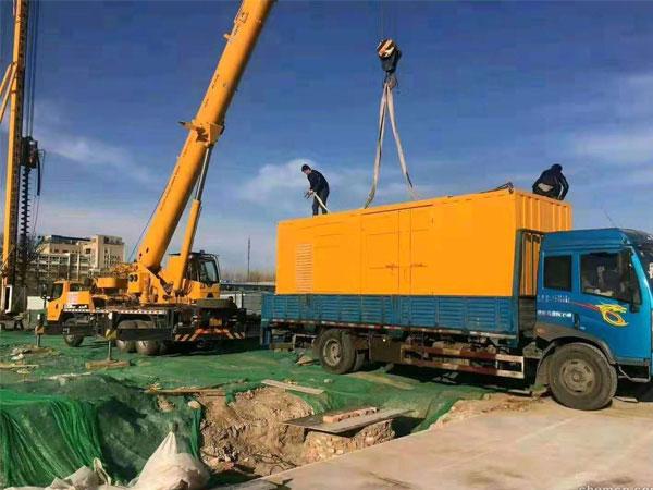合肥万科工程建设租赁一台大型静音发电机组
