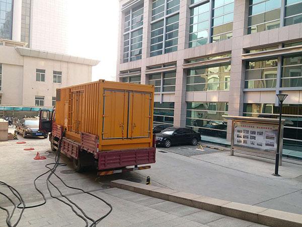 合肥瓯海县静音发电机出租案列